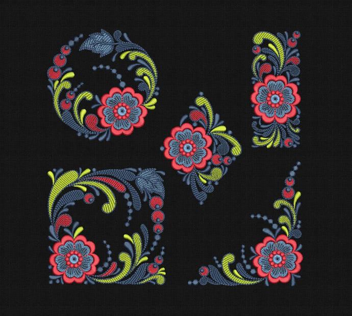 Machine Embroidery Designs Embroidery set Slavic Digital embroidery Maschin en