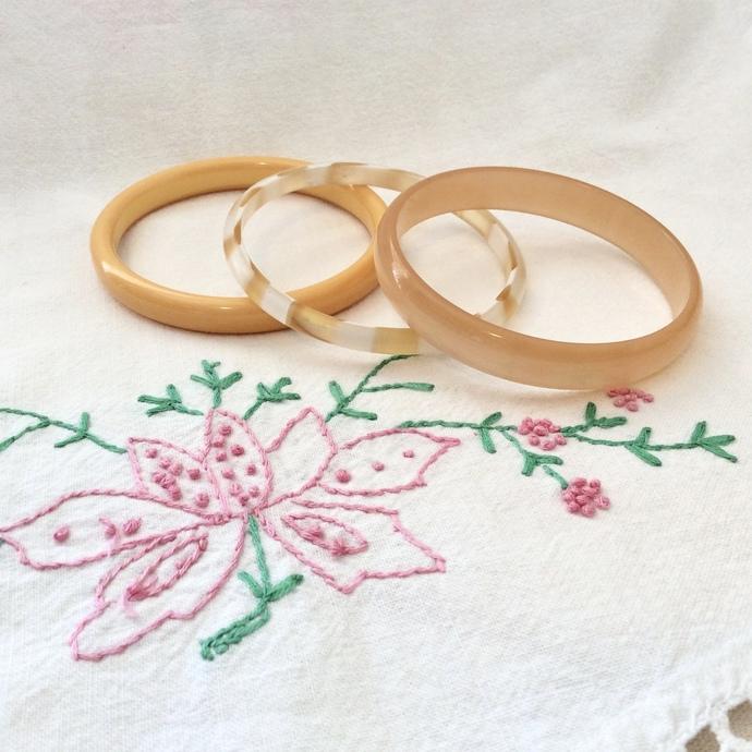 Just Peachy Bangle Bracelet Set