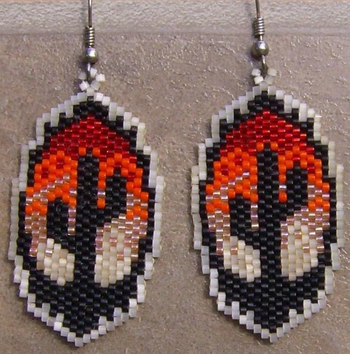 Desert Dawn Earrings Hand Made Seed Beaded