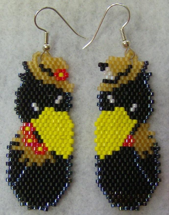 Harvest Crows Earrings