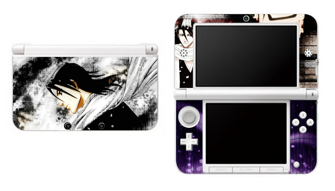 BLEACH BYAKUYA KUCHIKI NEW Nintendo 3DS XL LL, 3DS, 3DS XL Vinyl Sticker / Skin