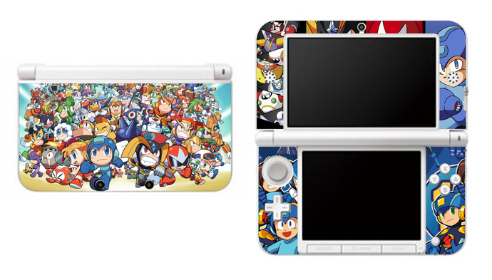 Megaman NEW Nintendo 3DS XL LL, 3DS, 3DS XL Vinyl Sticker / Skin Decal