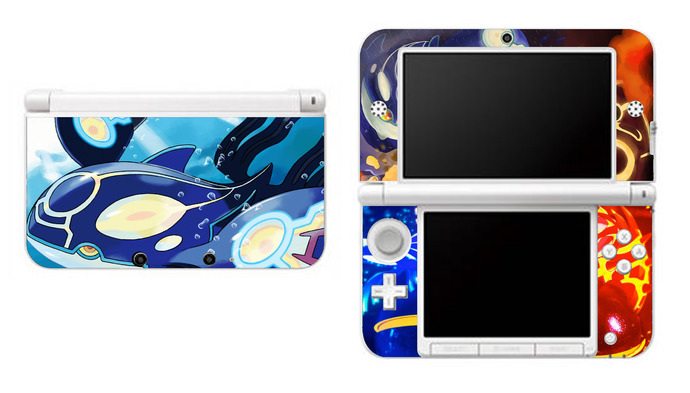 Pokemon Alpha Sapphire NEW Nintendo 3DS XL LL, 3DS, 3DS XL Vinyl Sticker / Skin