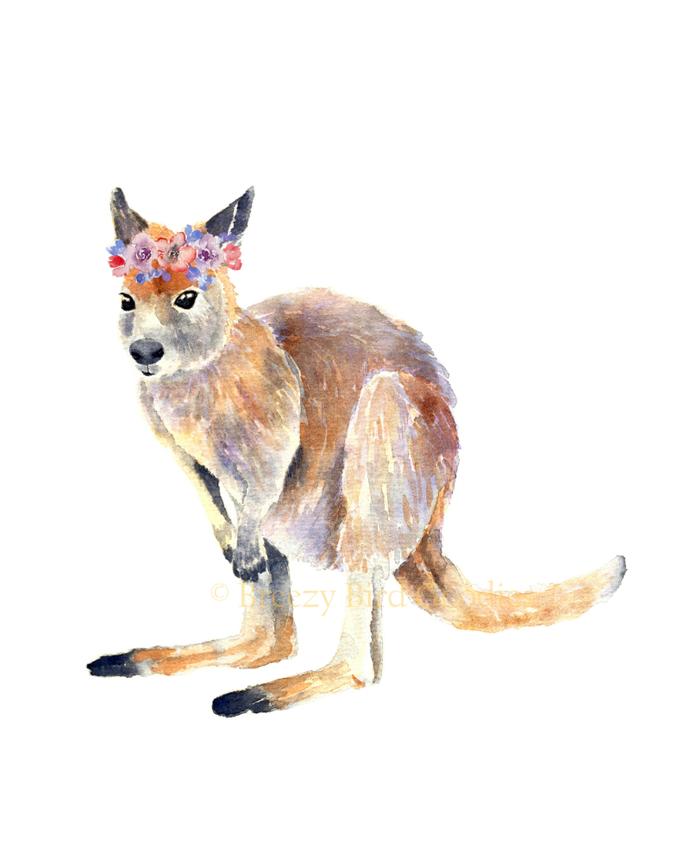 Wallaby Print