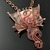 Dragon Rock - wire woven dragon on porcelain jasper pendant