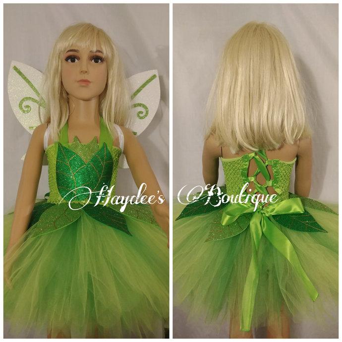 Green Fairy Tutu Dress Set
