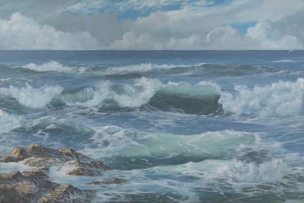 """Edge Of The Sea # 1"" Giclee Paper Print by Carol Thompson"