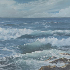 """Edge Of The Sea # 2"" Giclee Paper Print by Carol Thompson"