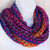 Infinity Moebius Scarf, spiral crocheted in Sunset Shades lightweight yarn with