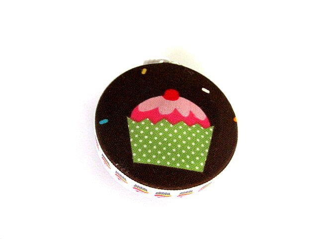 Measuring Tape Cupcakes Fabric Covered Retractable Tape Measure