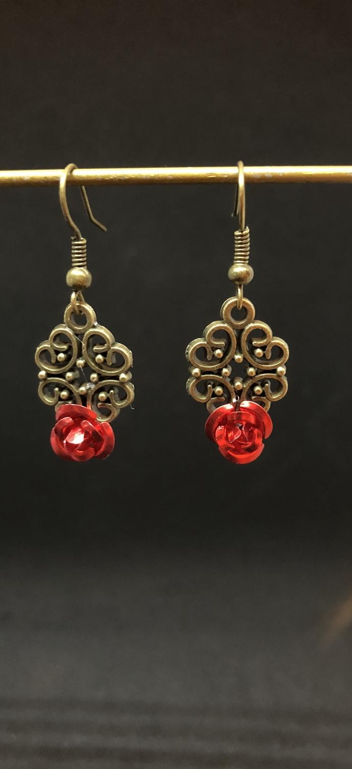 Regal Rose Earrings