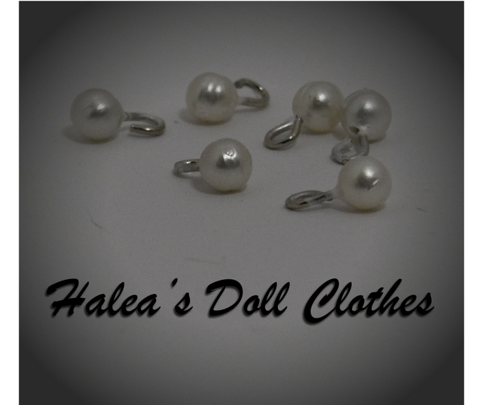 Doll Clothes Buttons Fake Pearl 4mm 4 mm BUT-5