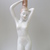 Vintage ,Hungarian Aquincum porcelain combing nude lady,stamped,handpainted
