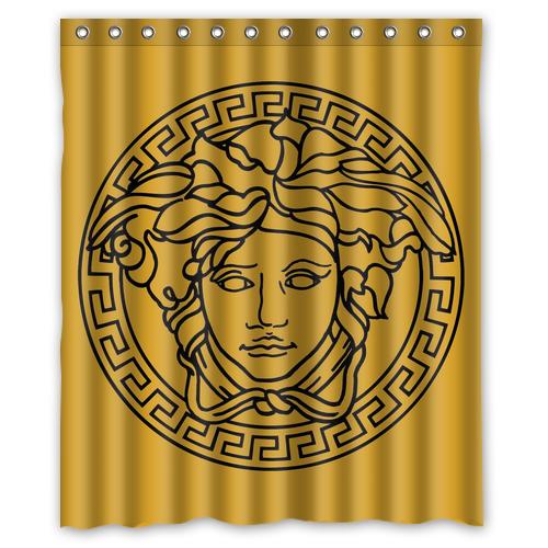 Versace 16 Fashion Logo Waterproof Fabric Shower Curtain Bath Mat For Decor