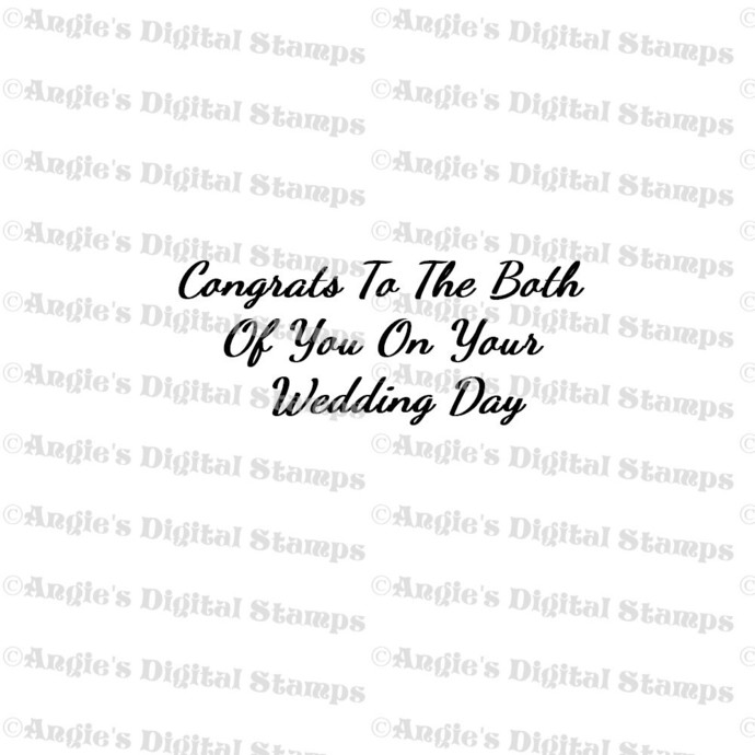 Congrats On Your Wedding Digital Stamp Quote