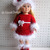 Crochet Pattern 3 PC Set for 18 inch Doll Crochet Patterns Christmas Doll Outfit