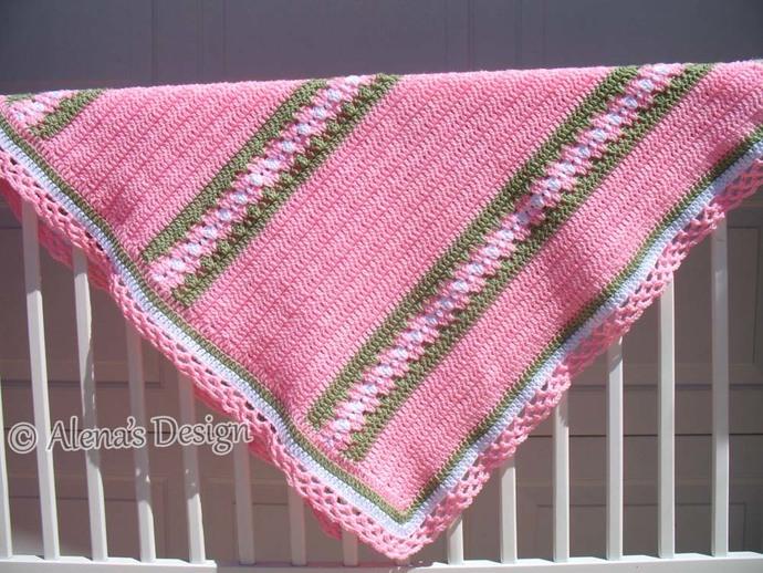 Crochet Pattern 210 Crochet Blanket Pattern Baby Blanket Blossom Crochet Afghan