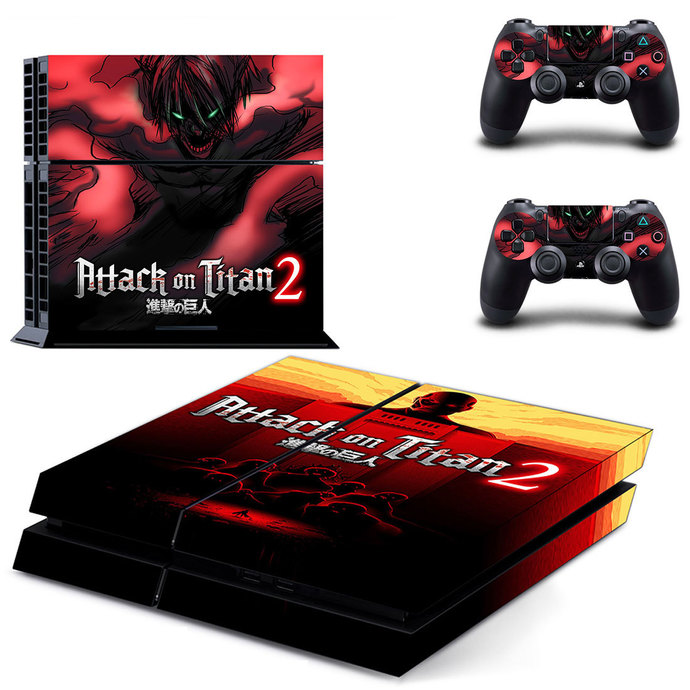 Attack on Titan 2  ps4 skin decal for console and 2 controllers