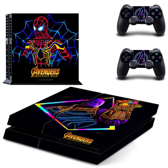 Avengers infinity war  ps4 skin decal for console and 2 controllers