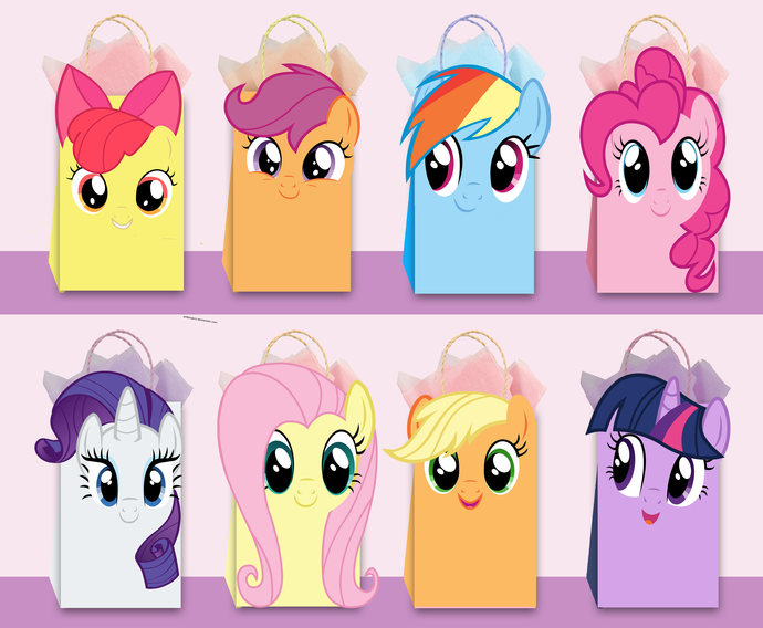 my little pony diy favor bag template my little pony party bags printable my