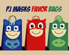 Pj Masks Gift Bags PJ Party Favor Partypj Birthday DIY CatboyOwletteGekko