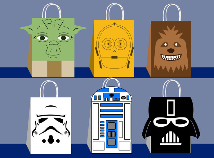 Star Wars Favor Bags Party Printable DIY Gift Bag