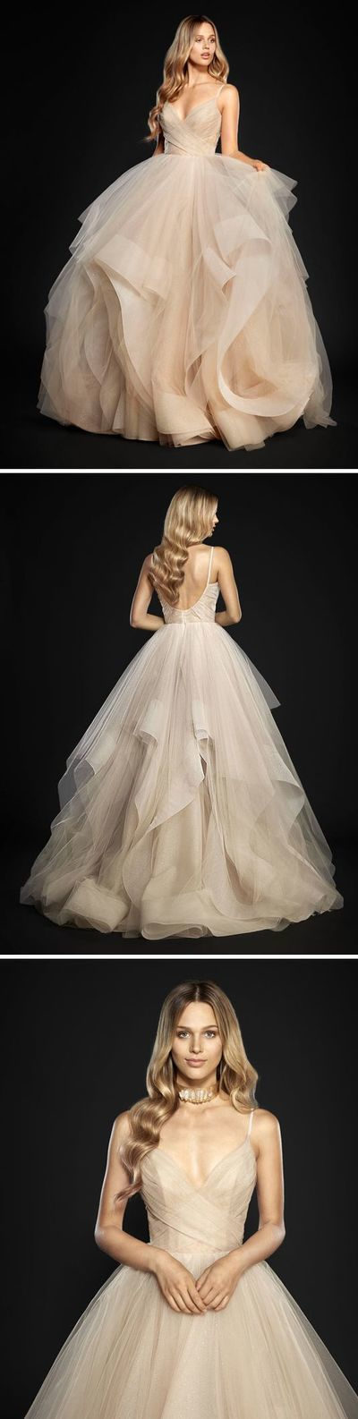 Backless Ball Gown,Layered Tulle Prom Dress,Custom Made Evening Dress,17138