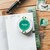 Pavilio standard lace tape -  Crystal Green - 1.5 cm wide washi tape 10m -