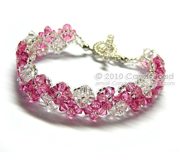 SALE; Size 7 to 8 1/2 inches; Crystal Bracelet; Swarovski Bracelet; Glass