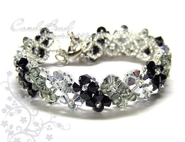 SALE; Size 7 to 8 1/2 inches; Swarovski Bracelet; Crystal Bracelet; Glass