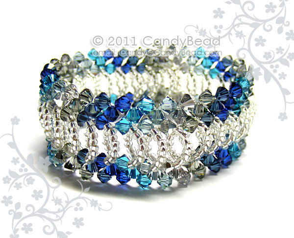 Size 7 to 8 1/2 inches; Swarovski Bracelet; Crystal Bracelet; Glass Bracelet;