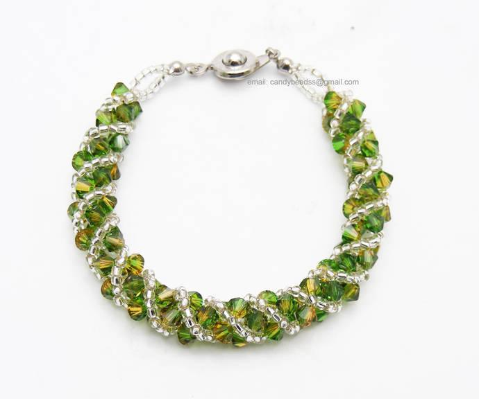 SALE; Size 6 1/2 to 7 inches; crystal bracelet; Swarovski bracelet; Glass