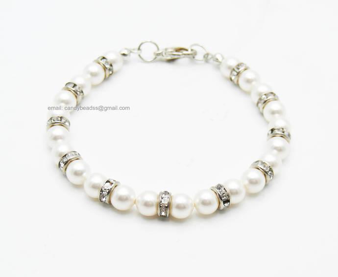 SALE; Size 6 1/2 to 7 inches; Beaded bracelet; Swarovski bracelet;Friendship