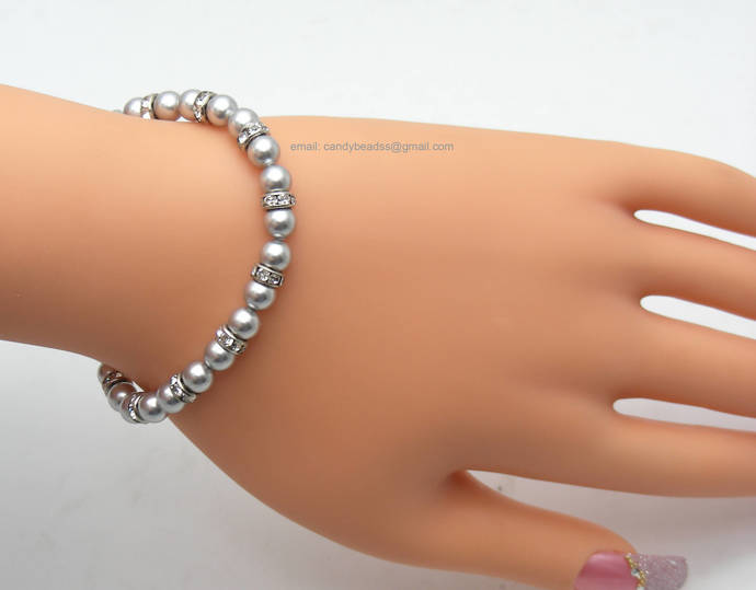 SALE; Size 9 1/2 inches; Beaded bracelet; Swarovski bracelet;Friendship
