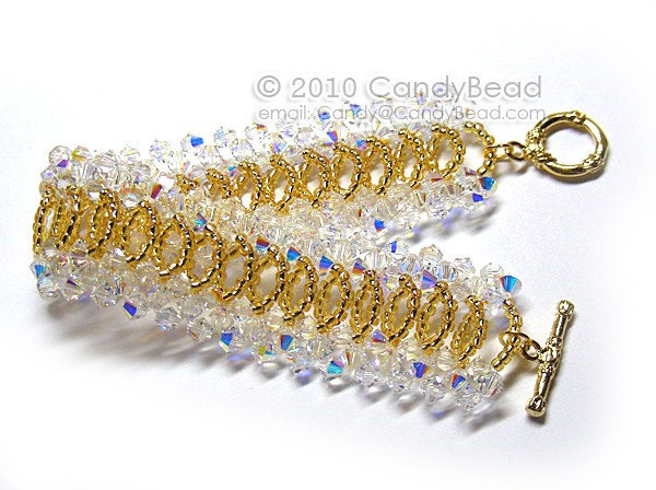 Size 7 to 8 1/2 inches; Crystal Bracelet; Swarovski Bracelet; Glass Bracelet;