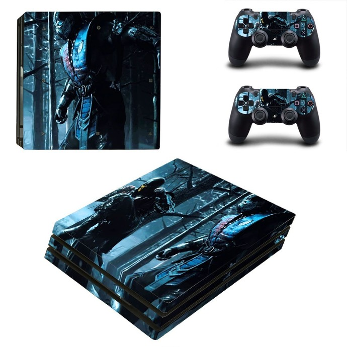 Mortal Kombat X PS4 PRO edition skin Sticker decal Console and controllers