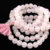 Rose Quartz Mala , Natural Genuine Rose Quartz Gemstone Mala Rosary mala Rose