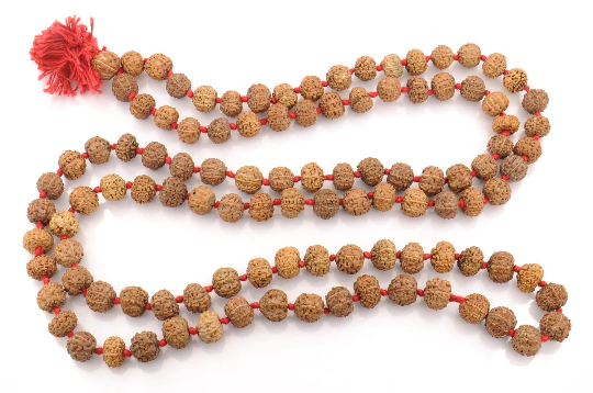 Natural 8 Face 8 Mukhi Rudraksha Java Indonesian Beads mala, Yoga Mala,