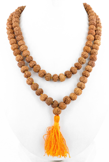 Natural 7 Face 7 Mukhi Rudraksha Nepal Beads mala, Yoga Mala, Metatation Beads