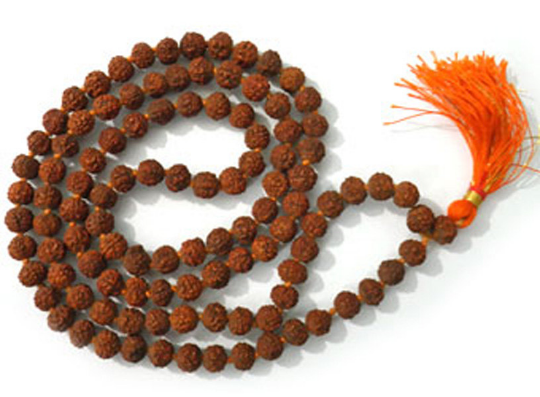 5- Mukhi (Five Face) Rudraksha Mala ( 108+1 beads ) For Jaap Meditation Rosarie