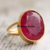Certified 4.85ct Natural Ruby Gemstone 14k Gold Ring