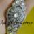 Rose ut Diamond Polki Silver Bracelet, Diamond Bracelet, Woman's Bracelet