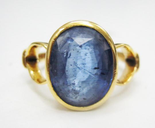 5.70 Carat 6.25 ratti Natural Blue Sapphire Gemstone Neelam Birthstone Gold