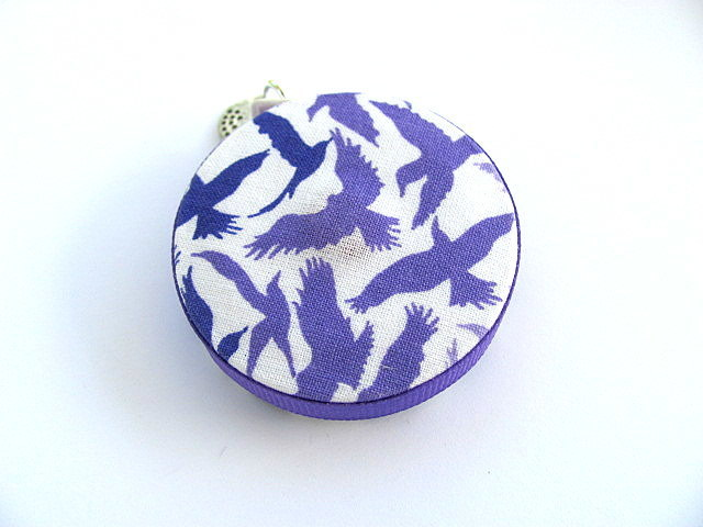 Tape Measure Lilac Birds in Flight Retractable Measuring Tape