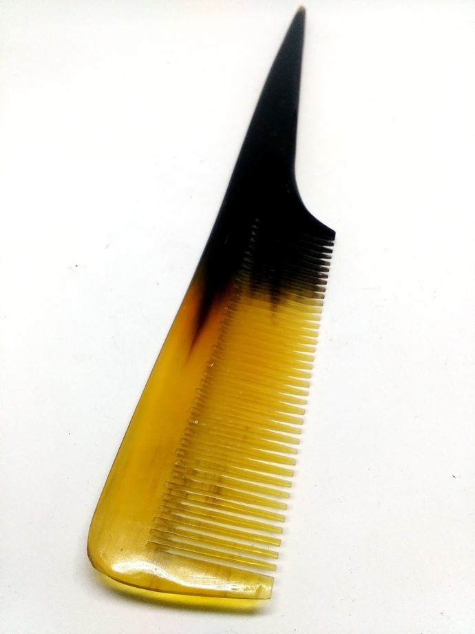 Natural Buffalo Horn Comb Wide Toothed Hair Comb handmade Anti-static