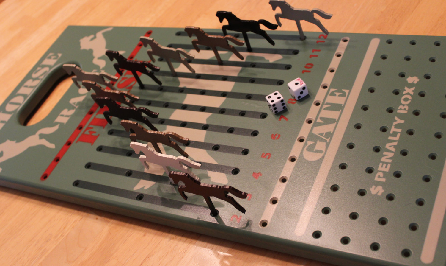 Horse Race Game Wood Horse Race Game By Kad Designs On Zibbet