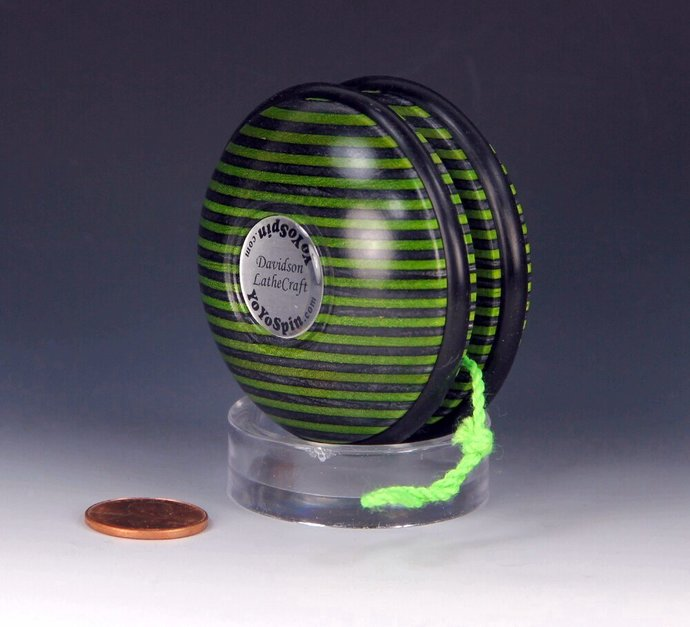 Handmade Toy YoYo, Fixed Axle Imperial made from Laminated/Dyed Hardwood