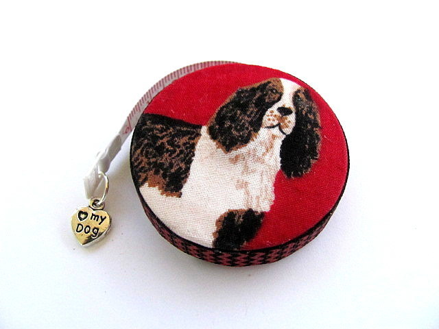 Measuring Tape Spaniel Dogs Pocket Retractable Tape Measure