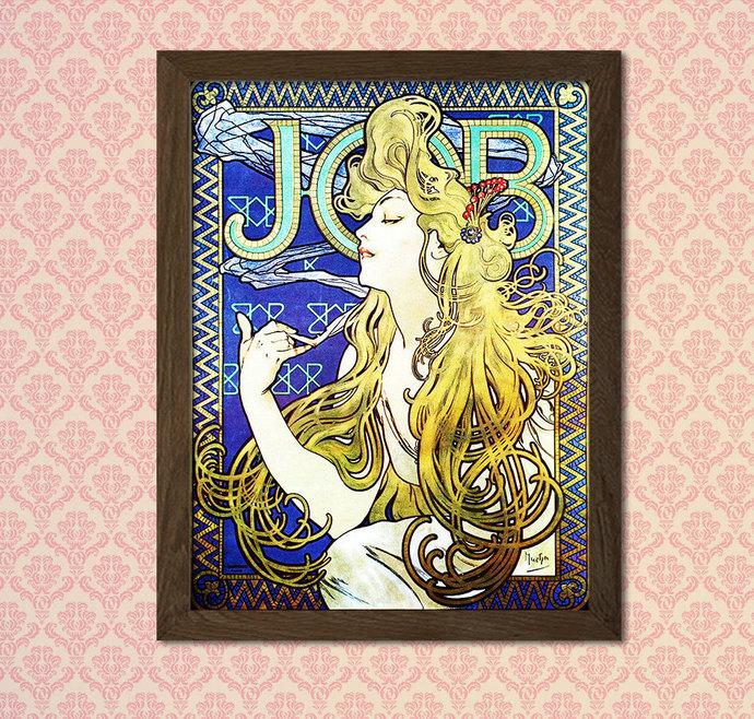 Alphonse Mucha Poster Art Nouveau Print 1896 - Alphonse Mucha Print Art Nouveau