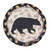 "Earth Rugs 5"" Round Decorative American Bear Printed Jute Braided Coaster"